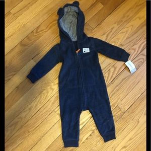 9 month one piece fleece bear outfit